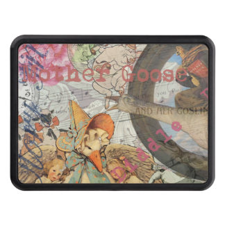 Vintage Mother Goose Fairy tale Collage Tow Hitch Cover