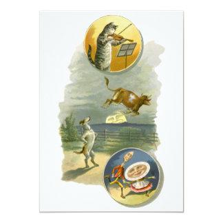 "Vintage Mother Goose Nursery Rhyme Baby Shower 5"" X 7"" Invitation Card"