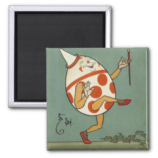 Vintage Mother Goose Nursery Rhyme, Humpty Dumpty 2 Inch Square Magnet