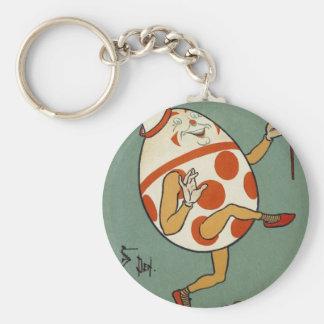 Vintage Mother Goose Nursery Rhyme, Humpty Dumpty Basic Round Button Keychain