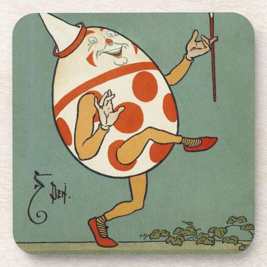 Vintage Mother Goose Nursery Rhyme, Humpty Dumpty Beverage Coaster