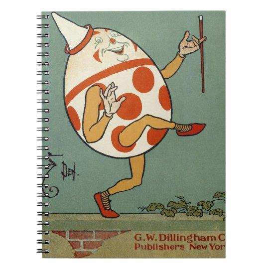 Vintage Mother Goose Nursery Rhyme, Humpty Dumpty Notebook