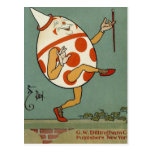Vintage Mother Goose Nursery Rhyme, Humpty Dumpty Postcard