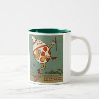 Vintage Mother Goose Nursery Rhyme, Humpty Dumpty Two-Tone Coffee Mug