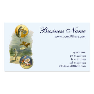 Vintage Mother Goose Nursery Rhyme Poem Business Card