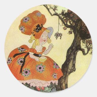 Vintage Mother Goose Nursery Rhyme Poem Classic Round Sticker