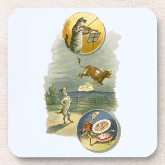 Vintage Mother Goose Nursery Rhyme Poem Drink Coaster