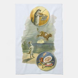 Vintage Mother Goose Nursery Rhyme Poem Hand Towel
