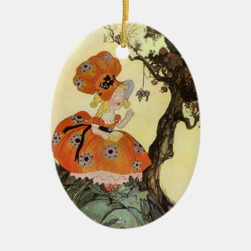 Vintage nursery rhyme ornaments