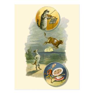 Vintage Mother Goose Nursery Rhyme Poem Postcard