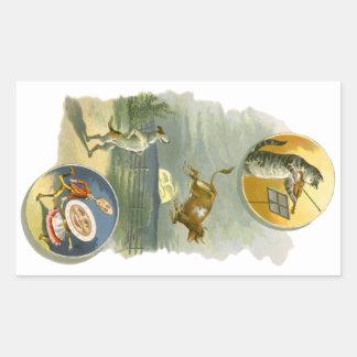 Vintage Mother Goose Nursery Rhyme Poem Rectangular Sticker