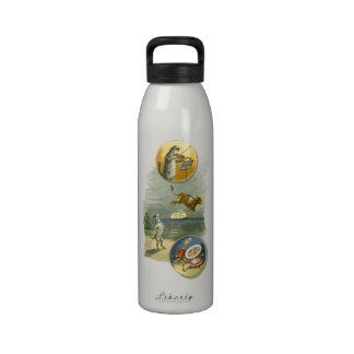 Vintage Mother Goose Nursery Rhyme Poem Reusable Water Bottles