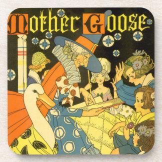Vintage Mother Goose Reading Books to Children Coaster