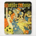 Vintage Mother Goose Reading Books to Children Mouse Pad