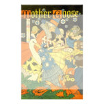 Vintage Mother Goose Reading Books to Children Stationery