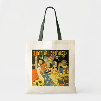 Vintage Mother Goose Reading Books to Children Tote Bag