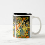 Vintage Mother Goose Reading Books to Children Two-Tone Coffee Mug