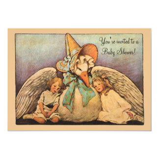 Vintage Mother Goose, Twins Baby Shower Invitation
