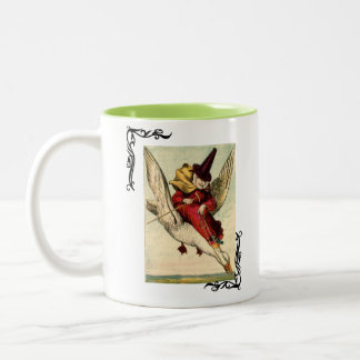Vintage Mother Goose Two-Tone Coffee Mug