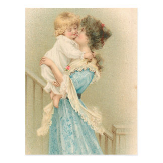 Vintage Mother Holding Child Postcard