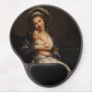 Vintage Mother Holding Her Child Gel Mouse Pad