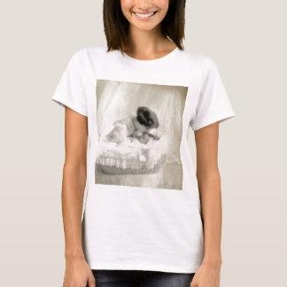 Vintage Mother Kissing Baby in Bassinet T-Shirt