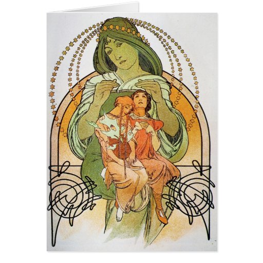 Vintage Mother Mary Card