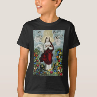 Vintage Mother Mary Lithograph T-Shirt