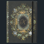 """Vintage Mother Of Pearl Hand Made Book Cover<br><div class=""""desc"""">Made during the Victorian era,  mother of pearl inlaid with gilded decoration.  An incredible amount of work has gone into this rare old book cover.  This one of a kind design has been adapted for you to personalise by adding your own monogram in the centre.</div>"""