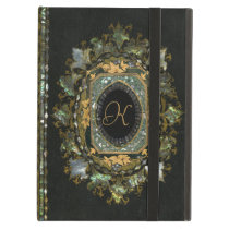 Vintage Mother Of Pearl Hand Made Book Cover Case For iPad Air