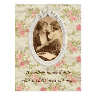 Vintage Mother Print Postcard