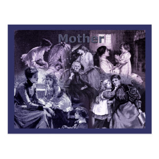 Vintage Mothers and Children Collage Postcard