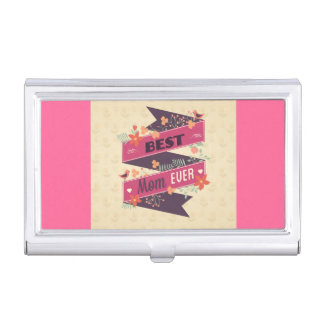 Vintage Mother's Daay Ribbon Greeting Business Card Cases