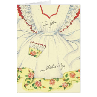 Vintage Mother's Day Apron Greeting Card