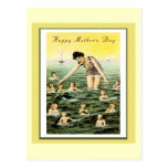 Vintage Mother's Day Baby Swimmers Post Card