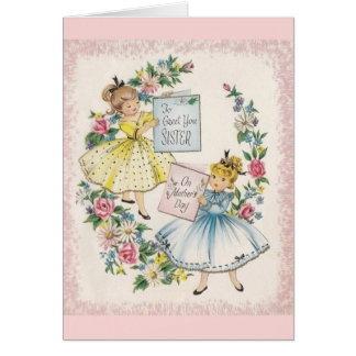 Vintage Mother's Day Card For Sister