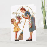 Vintage Mother's Day Card with Cute Message