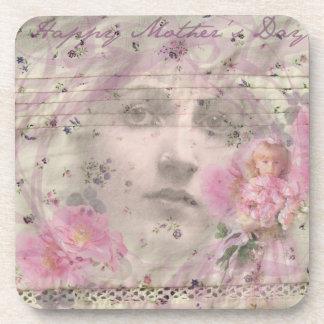 Vintage Mother's Day Beverage Coasters