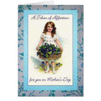 Vintage Mothers Day Flower Girl Cards