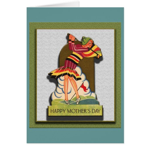 Vintage Mother's Day Golfing Greeting Cards