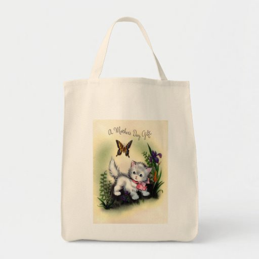 Vintage Mothers Day Grocery Tote Tote Bag