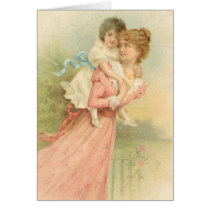 Vintage Mothers Day Mother and Child Card