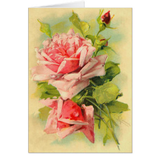 Vintage Mother's Day Roses Card