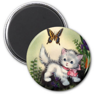 Vintage Mothers Day Round Magnet