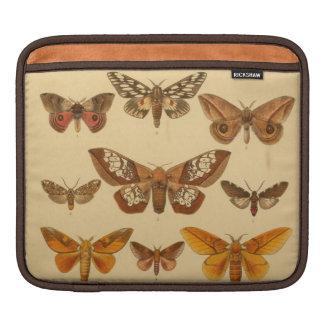 vintage moths iPad sleeves