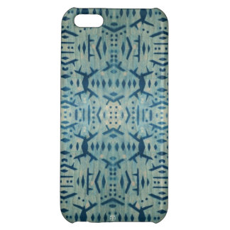 Vintage Motif Cyanotype Wood iPhone 5 Case