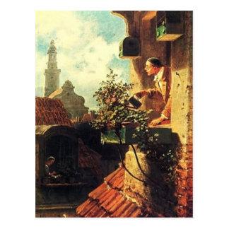 Vintage-Motive Attic Window Postcard