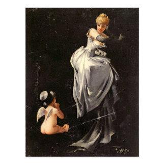 Vintage Motive - Caught in the Web - Falero Postcard