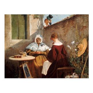 Vintage Motive - Love Letter - Spitzweg Postcard