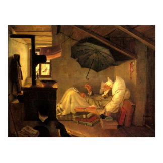 Vintage-Motive The Poor Poet Postcard